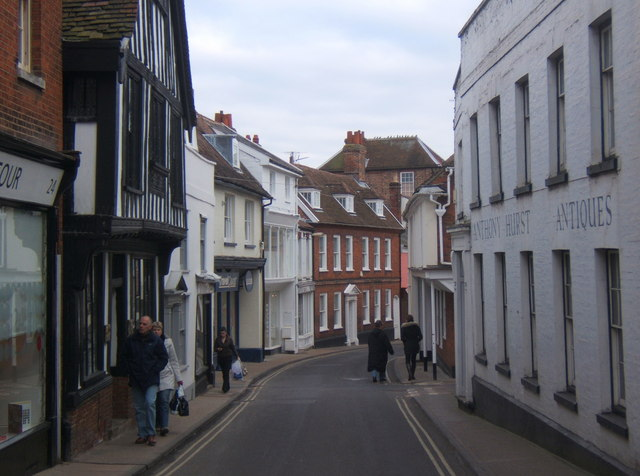 Along Church Street in Woodbridge