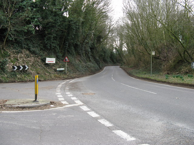 Looking S on the B2139 Storrington Road