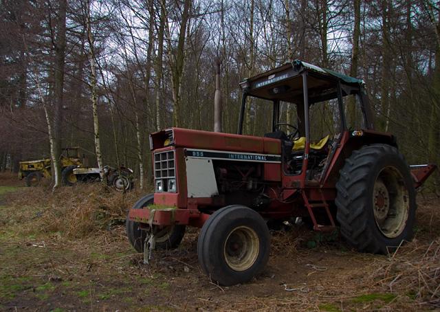 Woodland tractor, Houghton Moor