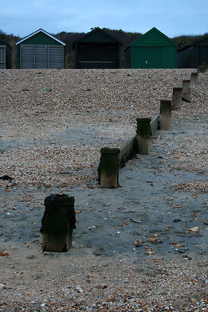 Groyne Posts and Beach Huts