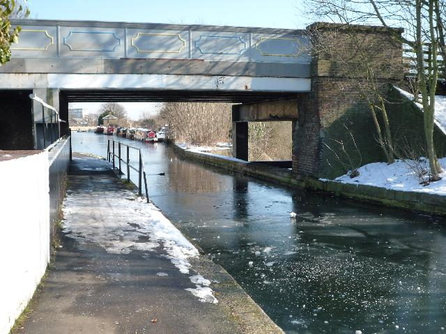 The Three Bridges and a frozen canal