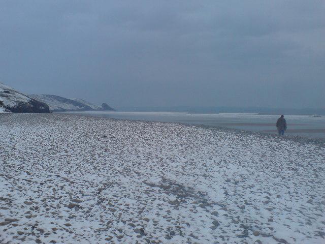 Snowy Newgale