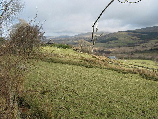 Farmland near Hafod-y-meirch
