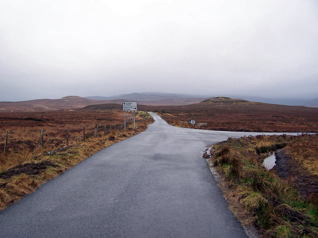 Junction on the B884