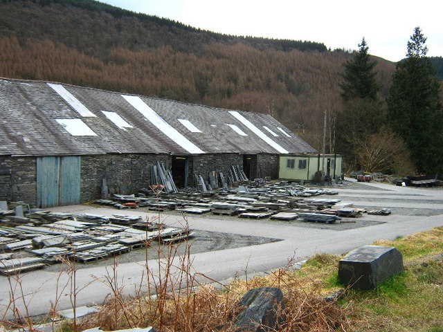 Slate sheds at Aberllefenni