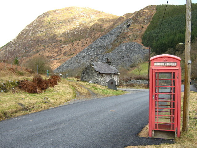 Old phone box, old office