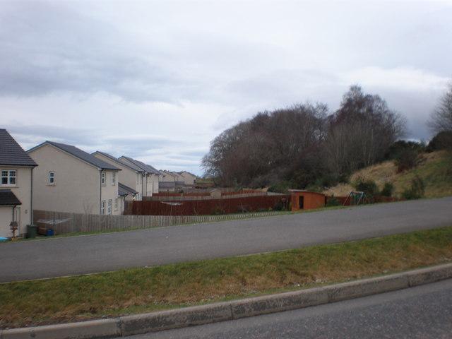 New houses beside embankment