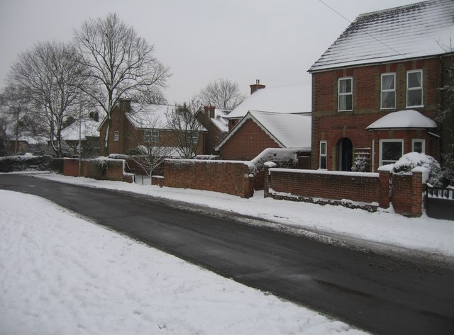 Vyne Road after a heavy snowfall