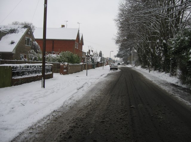 Looking west along Darlington Road