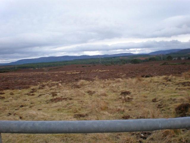 Pylons crossing Drumashie Moor