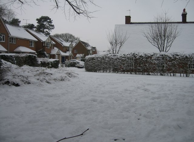 St Thomas Close & some snow