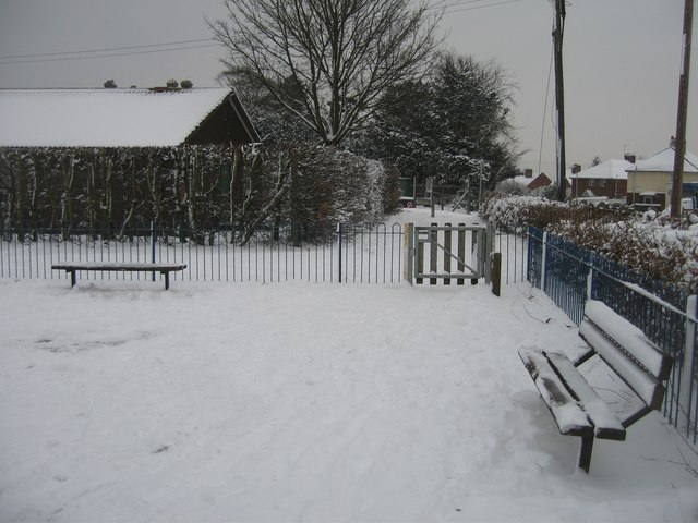 Snow on the playground