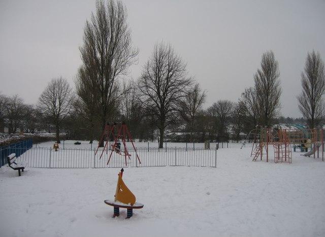 Kids playground & some snow
