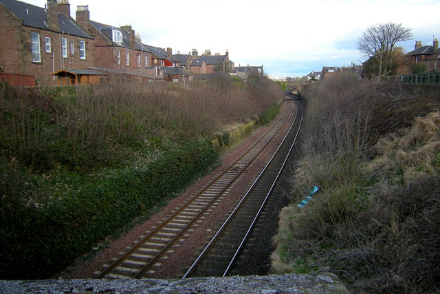 Dundee / Aberdeen Railway, Arbroath looking northeast