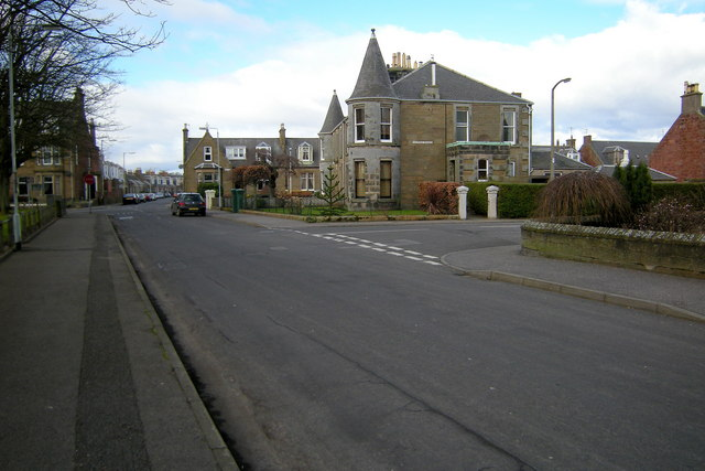 Alexandra Place, Arbroath, at its junction with Victoria Street