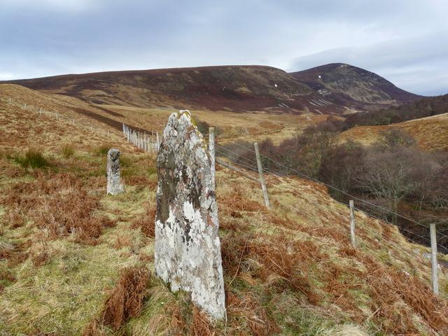 Standing stones, Glen Loth