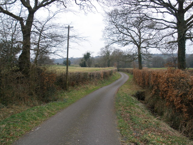 Minor road, near Churchinford
