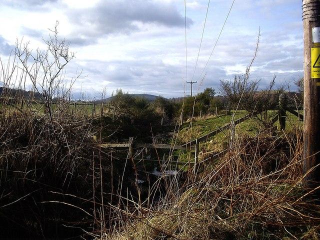Upstream drain by Bridgend Cottages