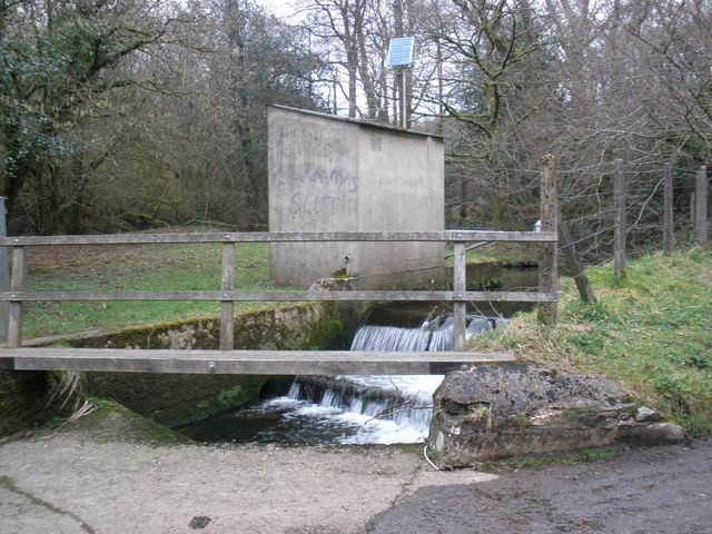 River Otter, flow monitor, near Fry's Moor