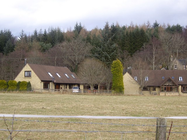 Cottages by Burn of Canny