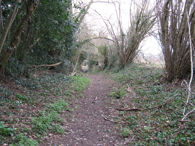 Footpath to the south of golf course