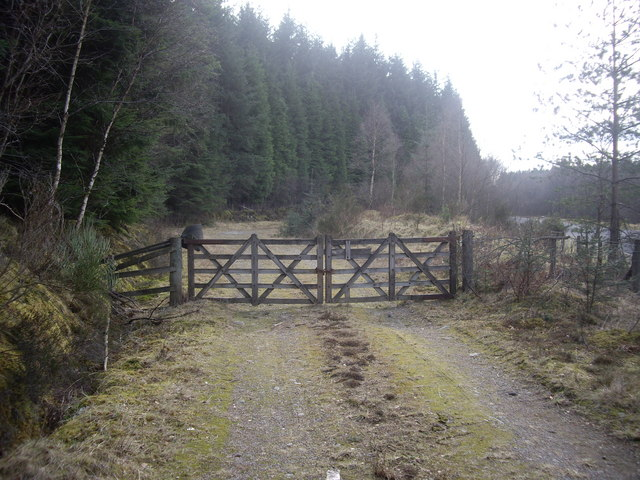 Gated entrance to Trustach Hill