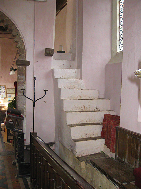 Steps from the chancel