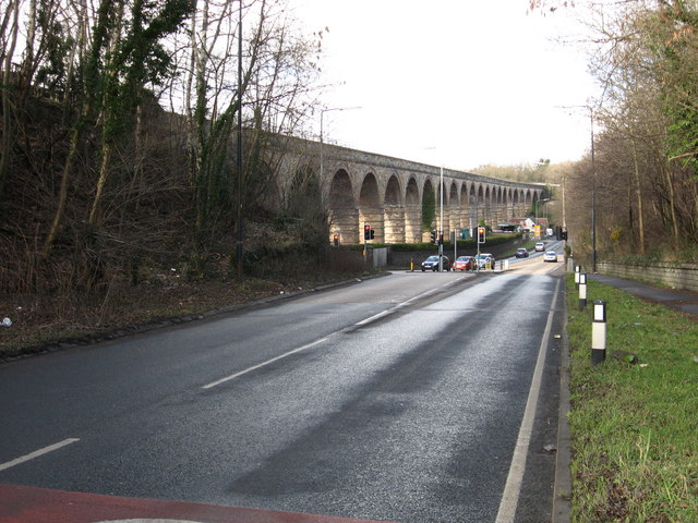 Junction of minor road and the A7