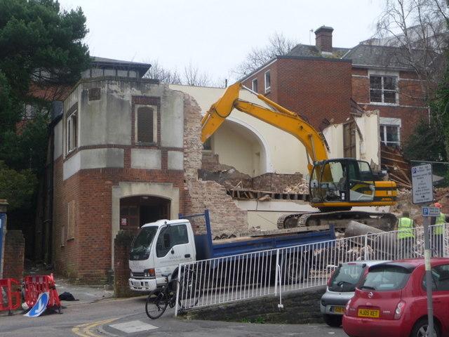 Bournemouth: Mount Zion Baptist Chapel under demolition