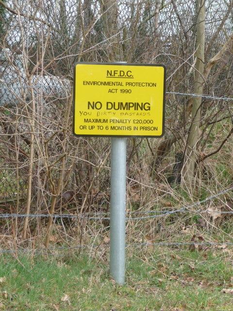 Ripley: No Dumping, You Dirty B******s