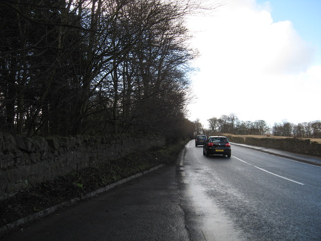 The A71 heading in a westerly direction towards Burnwynd