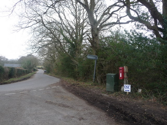 Sway: postbox № SO41 81, Mead End