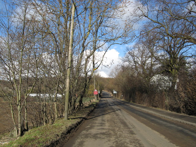 Minor road heading for Ratho Station