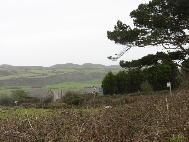 The hamlet of Llaneuddog from the Cochwillan road