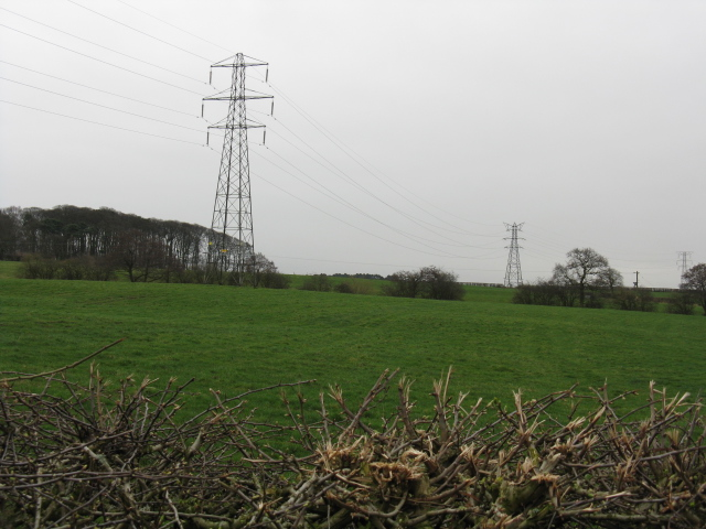 Pylons at Tabley Hill