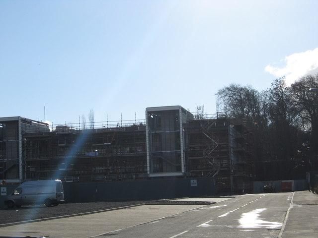 Construction work at Ratho Station Industrial Park