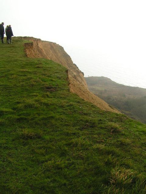 Cliff edge above Cain's Folly