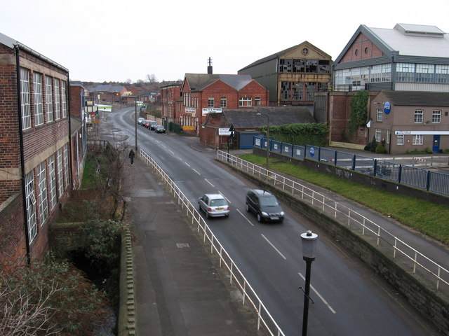 Attercliffe - Darnall Road from aqueduct
