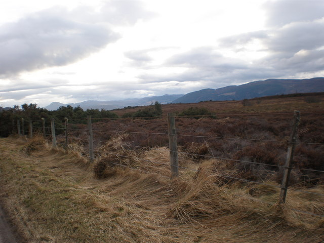 Looking Across Ashie Moor towards Urquhart Bay and Hills beyond