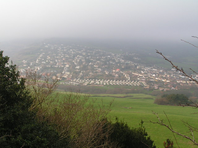 Charmouth on a misty day