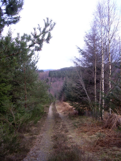 Eastern end of track over Hill of Trustach