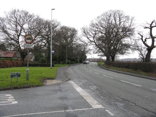 A50 at Sugar Pit Lane, Knutsford