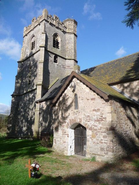 St. Brides Wentlooge: church porch and tower