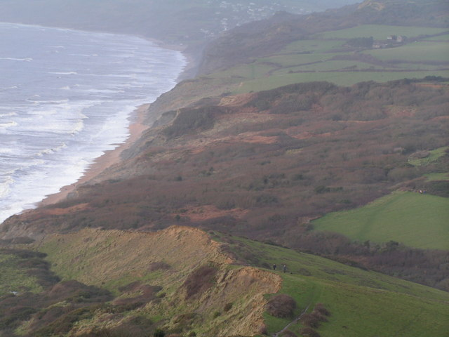 The lower slopes of Golden Cap