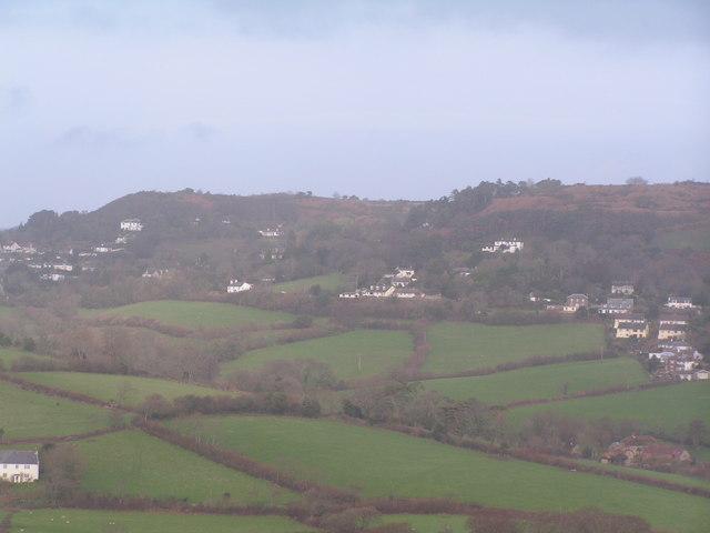 Hardown Hill from Golden Cap
