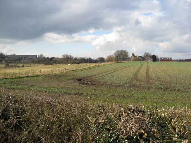 Clowne - View across fields towards Manor Farm