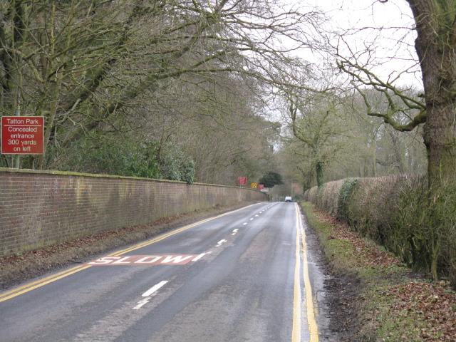 Ashley Road approaching Tatton Park Entrance
