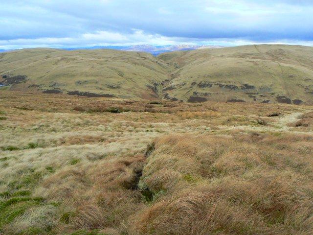 Wether Hill, seen across Glen Devon from Bald Hill