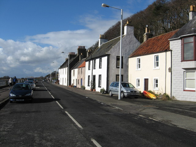 Brightly coloured houses on the promenade