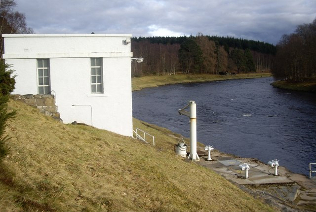 Water intake station by River Dee